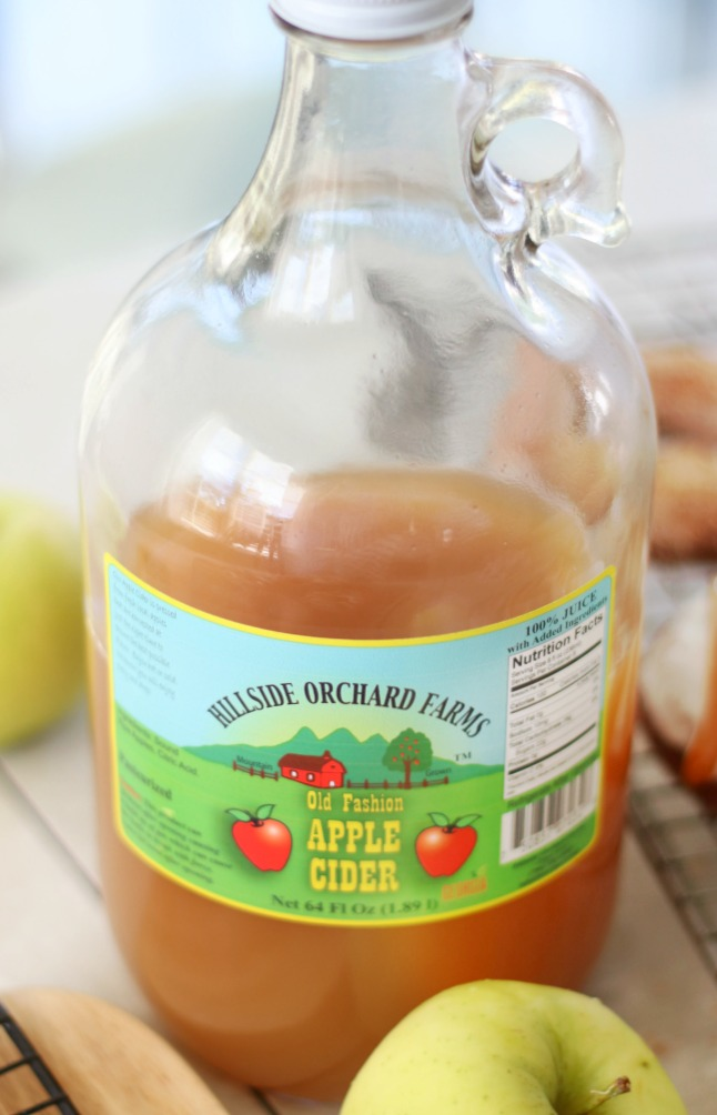 jug of fresh apple cider