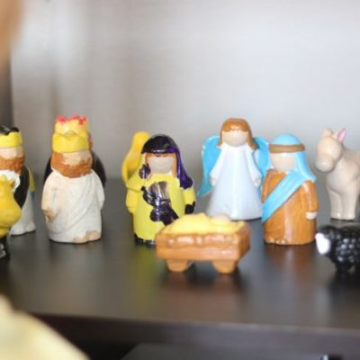 ceramic nativity set for kids to paint
