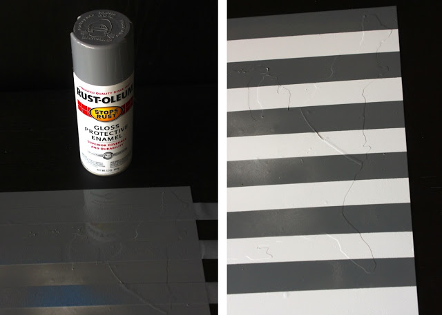 painting stripes on memo board