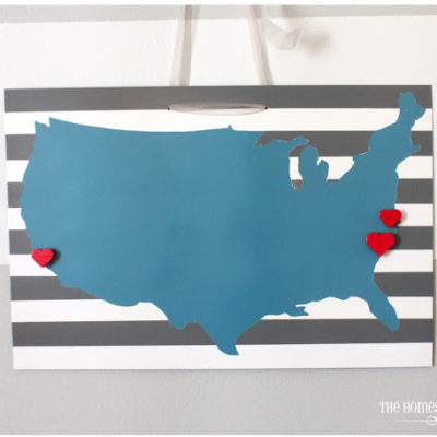 magnetic US wall art hanging on wall