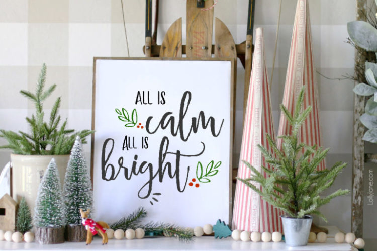 free Christmas wall art