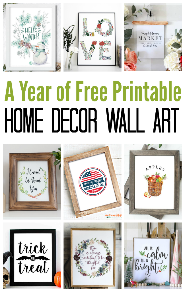 a year of home decor wall art