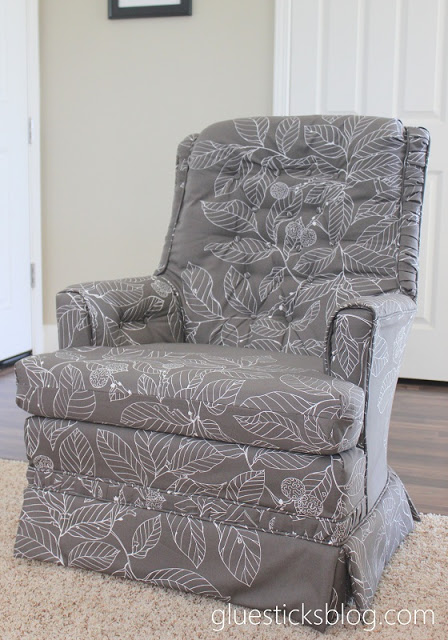 how to reupholster a swivel rocker chair gluesticks