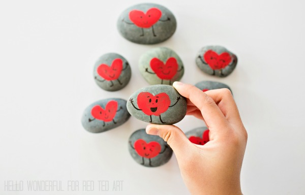 valentine painted rocks