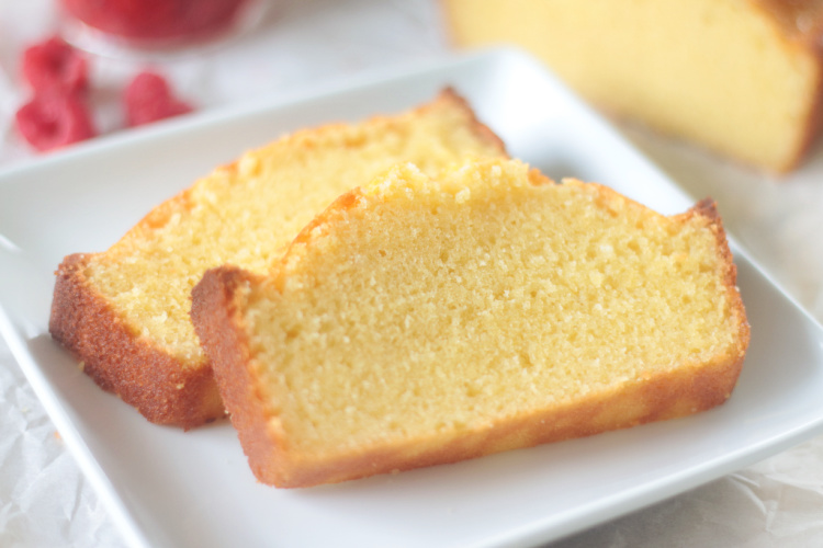 two slices of pound cake