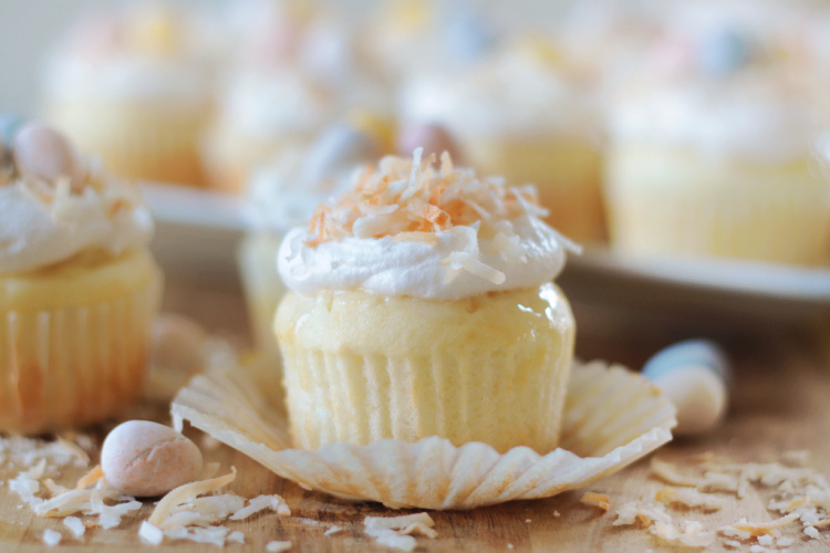 unwrapped coconut cupcake