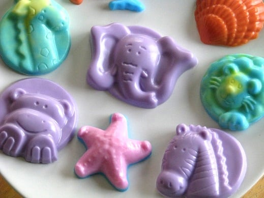 animal shaped glycerin soaps