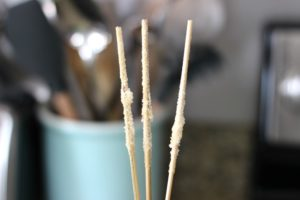 sugar coated skewers for rock candy