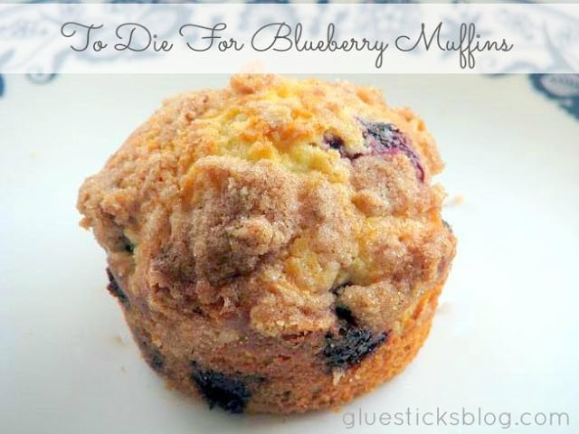 To Die For Blueberry Muffins | Gluesticks