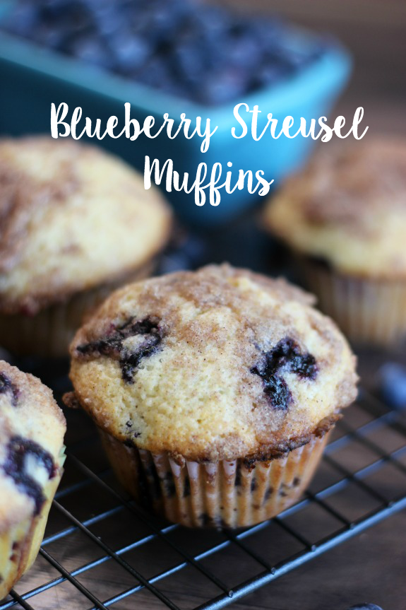 This delicious blueberry streusel muffins recipe (made with fresh OR frozen blueberries) with a crumb topping is simply the best!