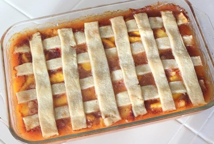 peach cobbler lattice top