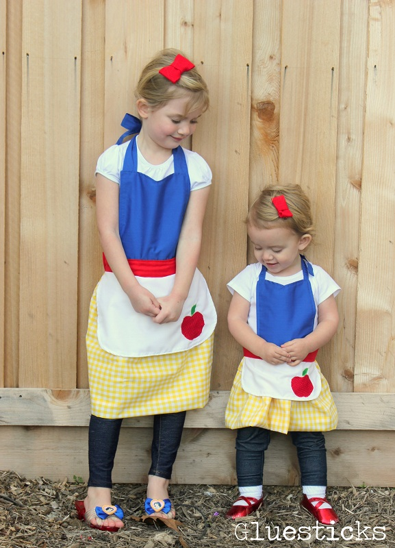 snow white aprons for girls