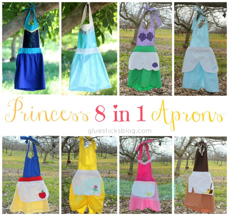 Princess Aprons 8 in 1 Tutorial