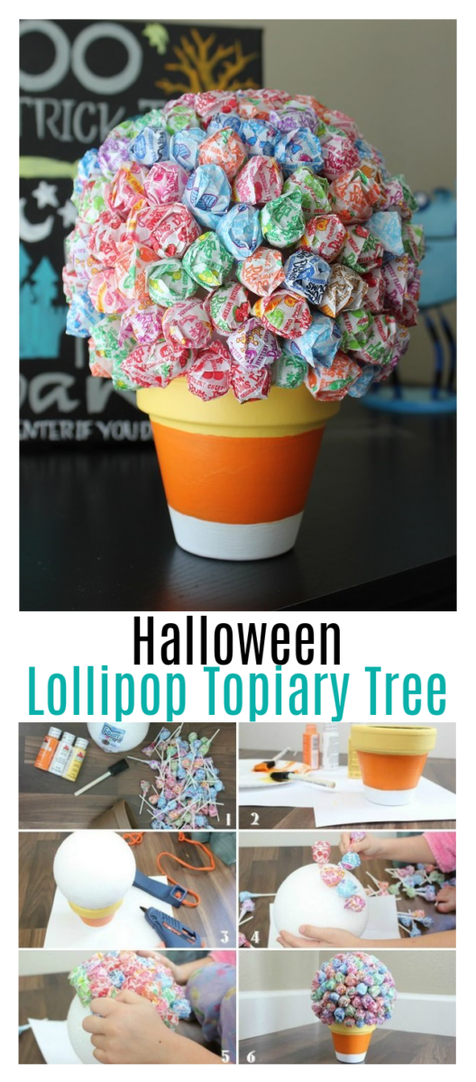 candy corn lollipop tree