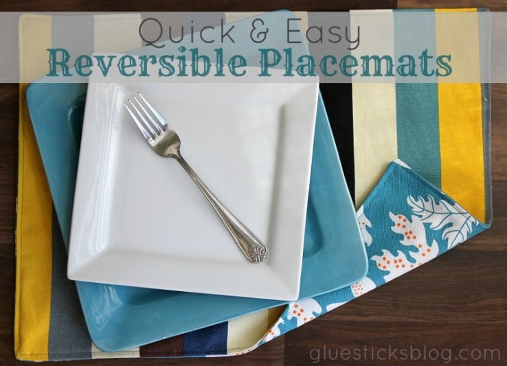 quick and easy reversible place mats