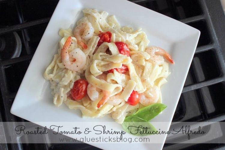 Tomato & Shrimp Fettucini Alfredo #MakeitYourMichelinas