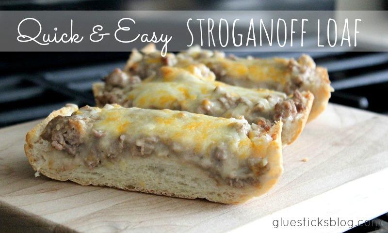 slices of stroganoff French bread