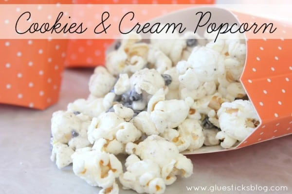 Cookies and Cream Popcorn for halloween
