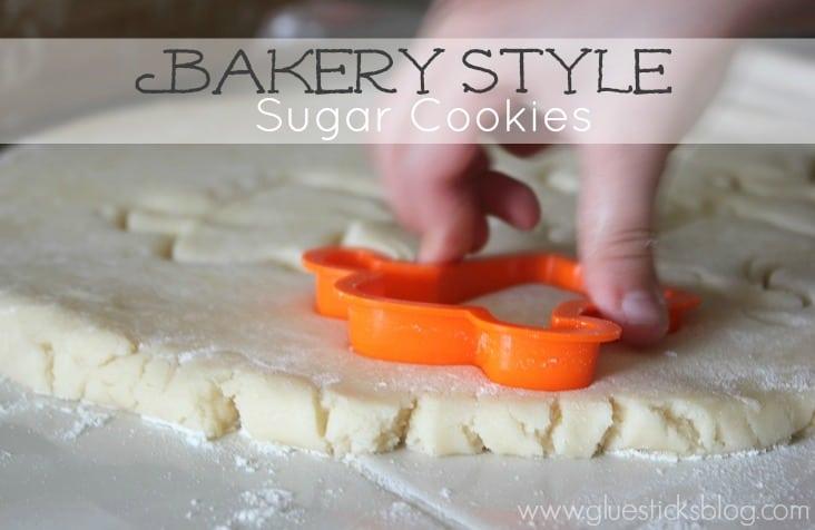 Bakery Style Sugar Cookies www.gluesticksblog.com