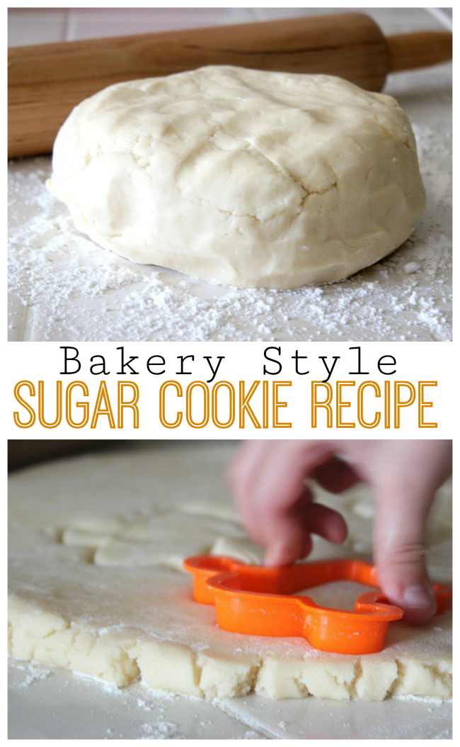 Every family has a favorite sugar cookie recipe ours is perfectly soft all the way through and they keep their shape, this bakery style sugar cookie recipe is hard to beat! There's also a bonus frosting recipe you can put on them.