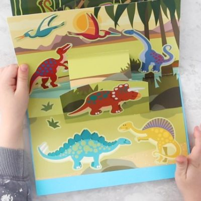 dinosaur pop up book page