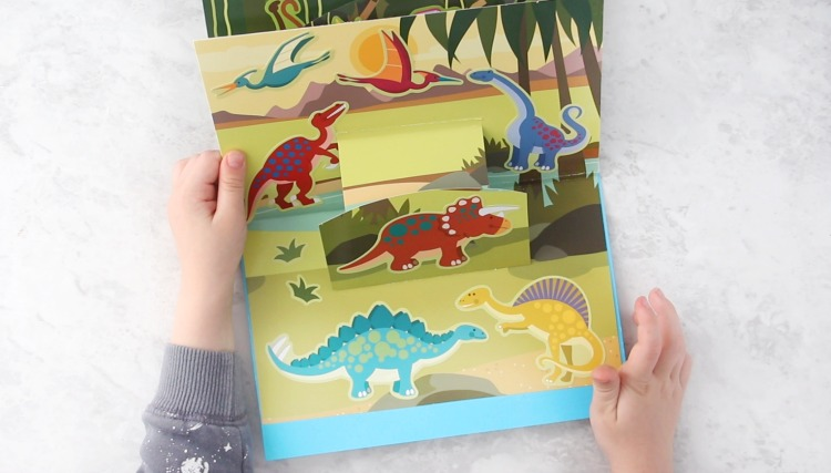 dinosaur pop up book