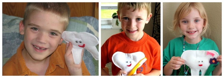 little boys with tooth pillows