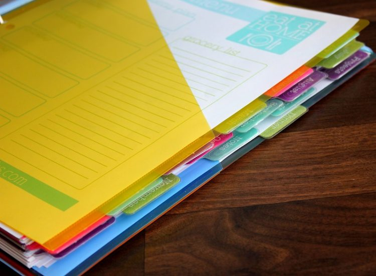 how to create a binder planner
