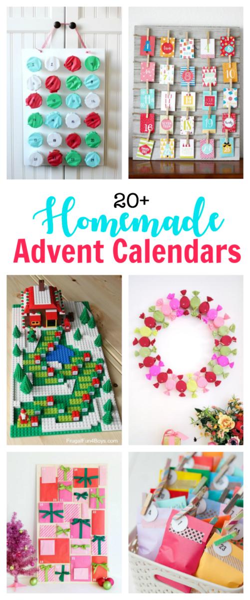 collage of advent calendar ideas