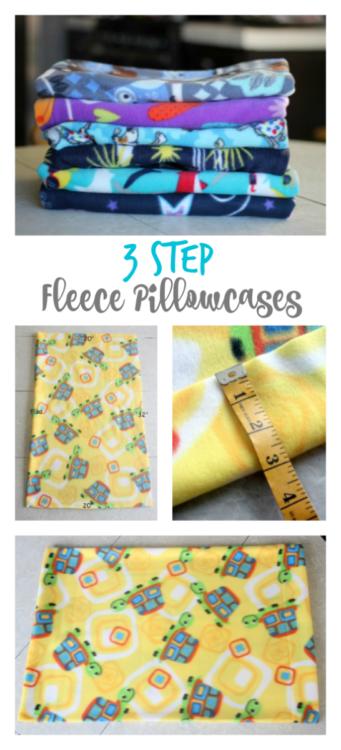 stack of fleece pillowcases