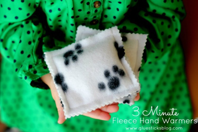 5 minute fleece hand warmers kids can give as gifts