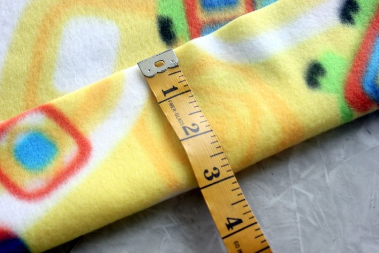 folding fleece pillowcase hem