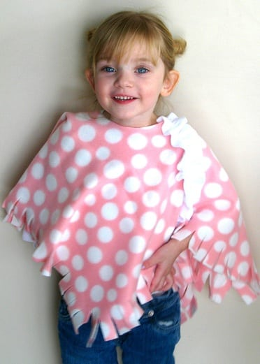 no sew poncho for kids