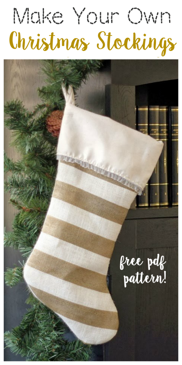 Make your own stockingsthis year with this free Christmas stocking pattern. A great beginning sewing project and they turn out so beautiful!
