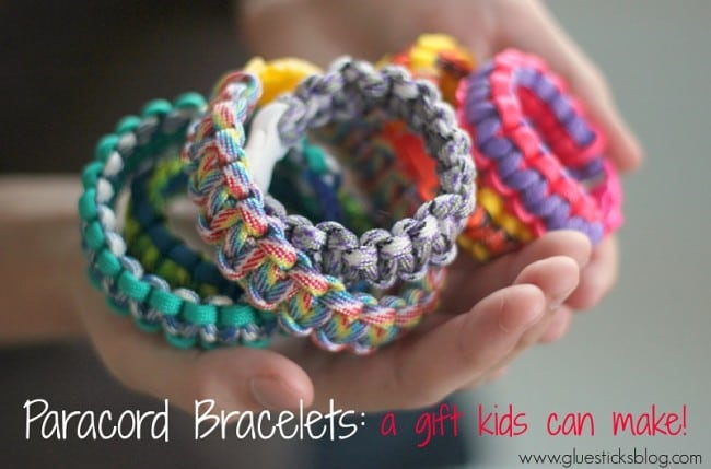 paracord bracelets for kids to make as gifts
