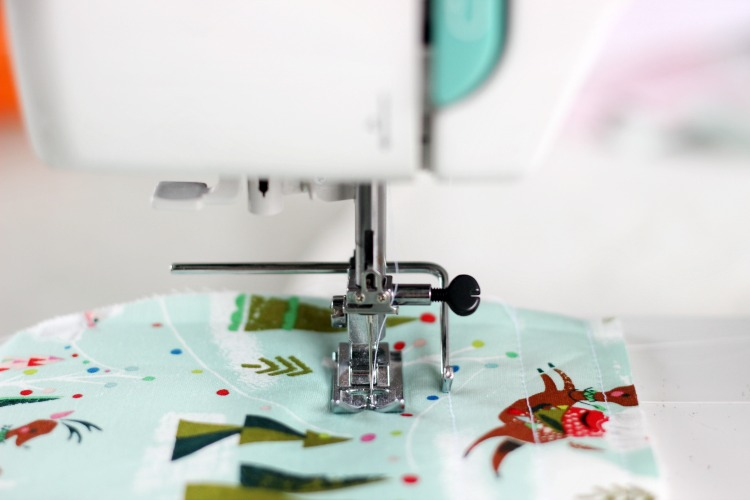 quilting christmas stockings with sewing machine