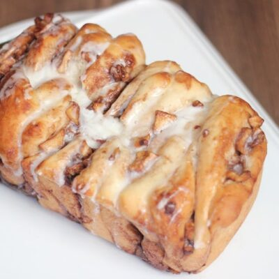 loaf of apple pull apart bread