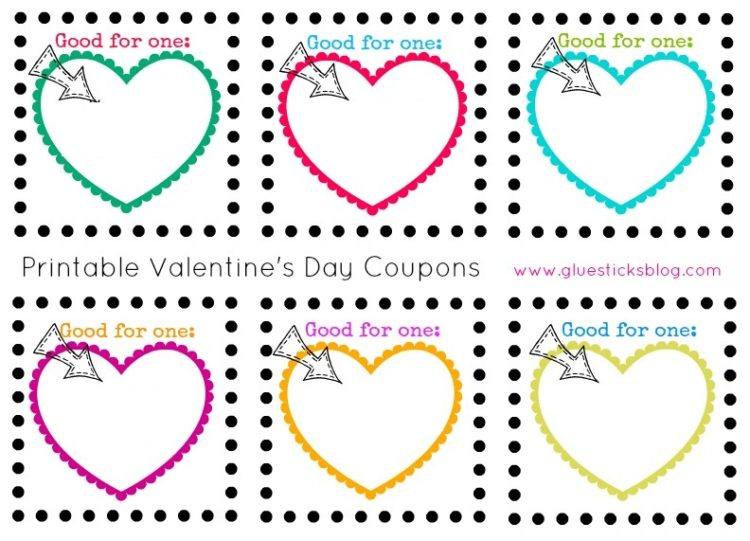 Printable Valentine S Day Coupons For Kids Printed Or