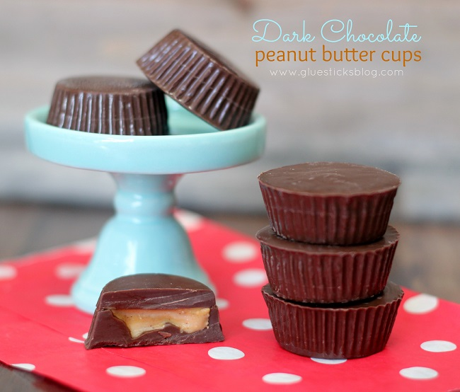 mini peanut butter cups on napkin