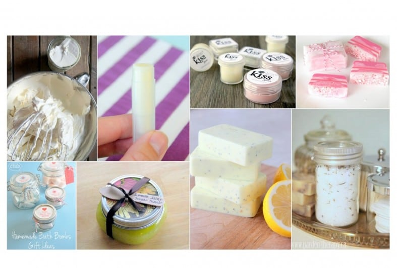 variety of homemade beauty products