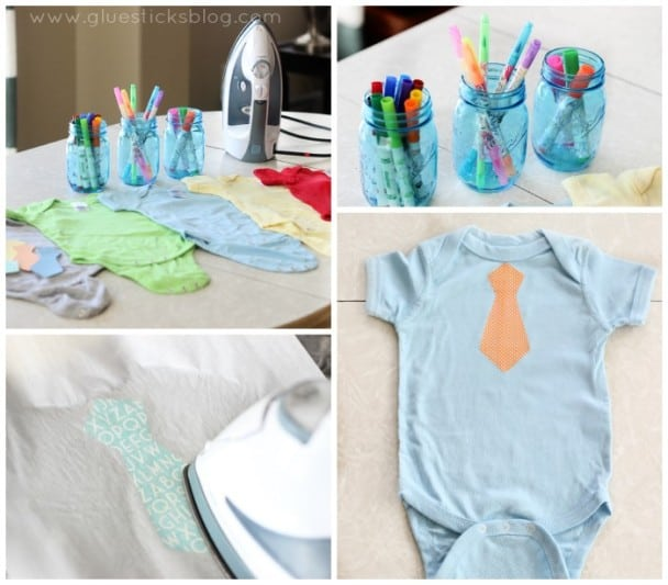 diy onesies and other baby shower activities