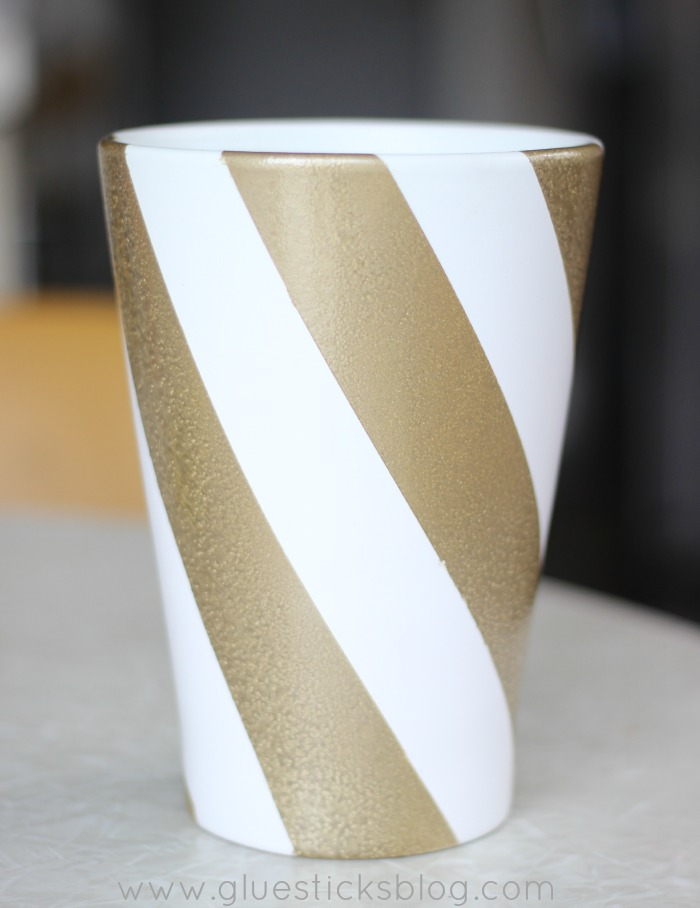 Candy Striped Vase Gluesticks