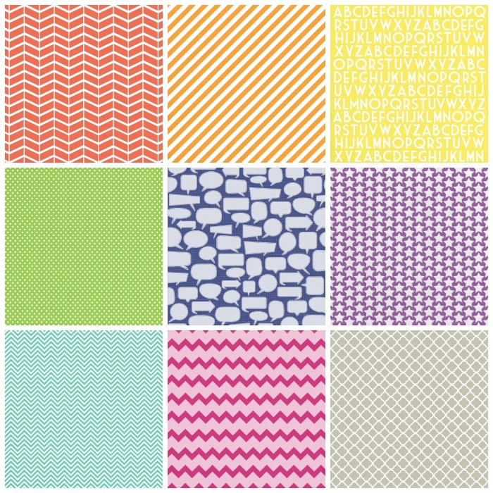 variety of colored fabrics for onesies