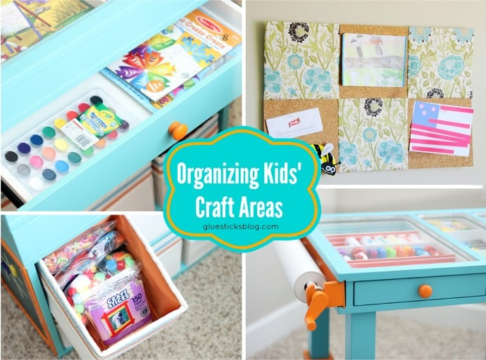 Organizing Kids' Craft Areas