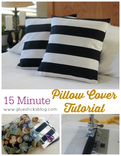 15 Minute Pillow Covers www.gluesticksblog.com