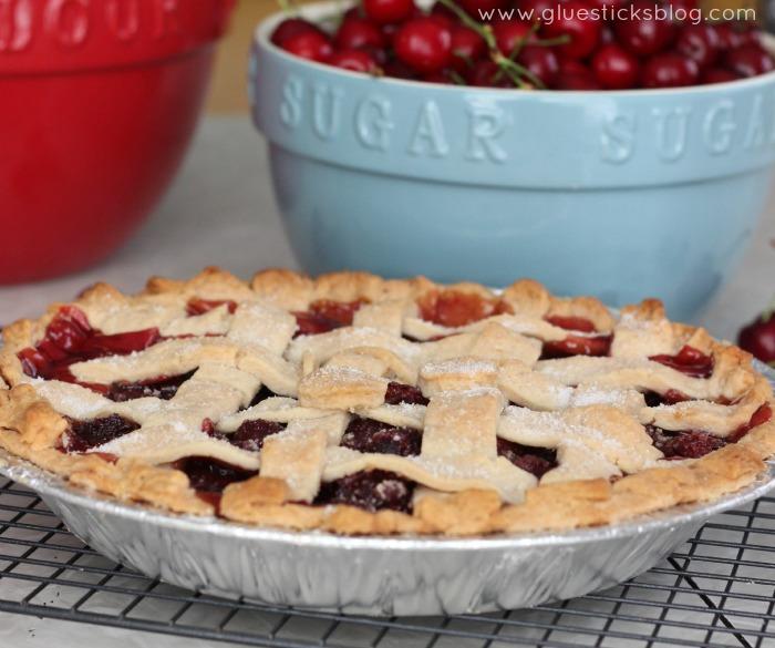 Fresh Bing Cherry Pie