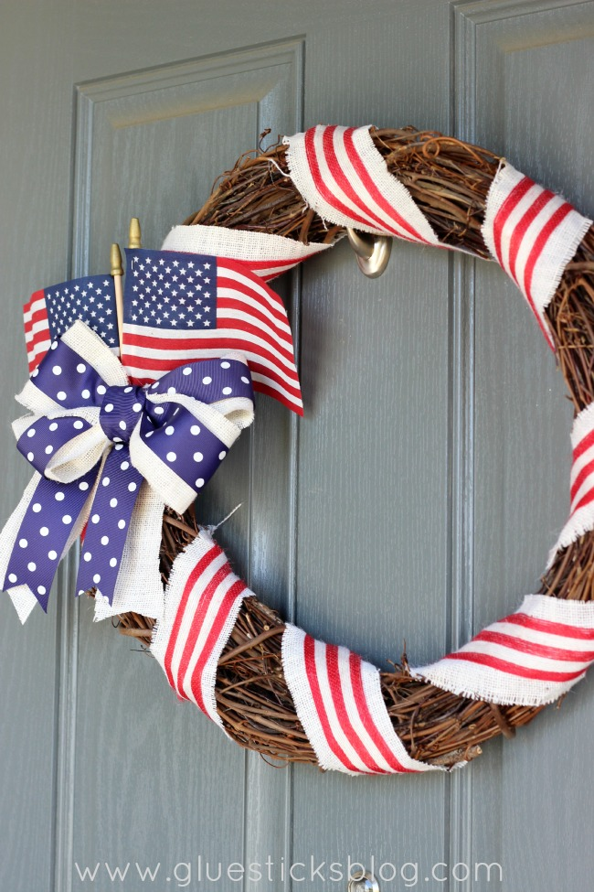 Old Glory Patriotic Wreath Tutorial
