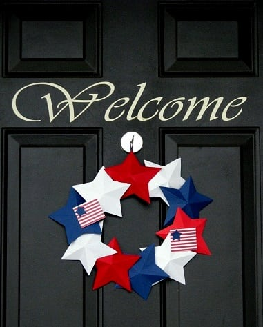 Patriotic Cardstock Wreath Tutorial