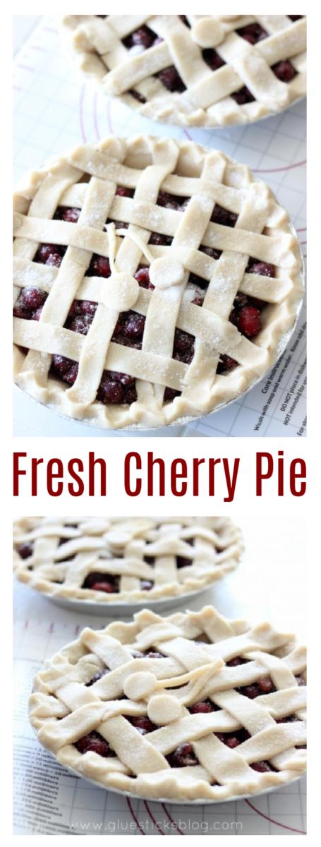 cherry pie with a lattice crust