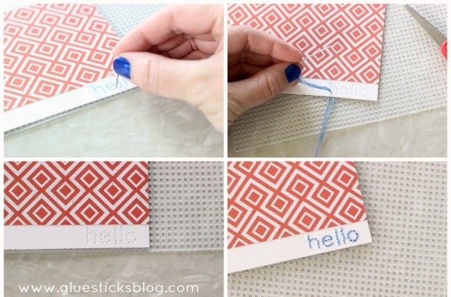 Easy Hand Stitched Note Cards